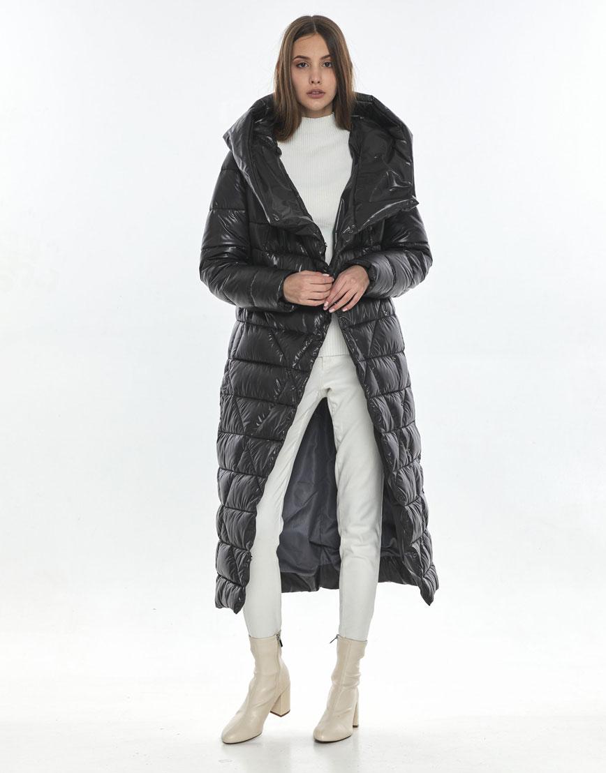 Подростковая зимняя куртка Vivacana на девушку серая 9470/21 фото 2