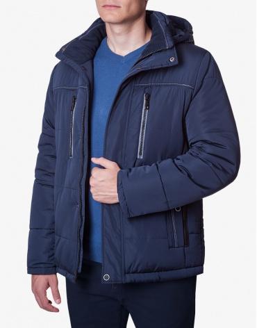 Мужская модная темно-синяя куртка модель 1902-1 фото 1