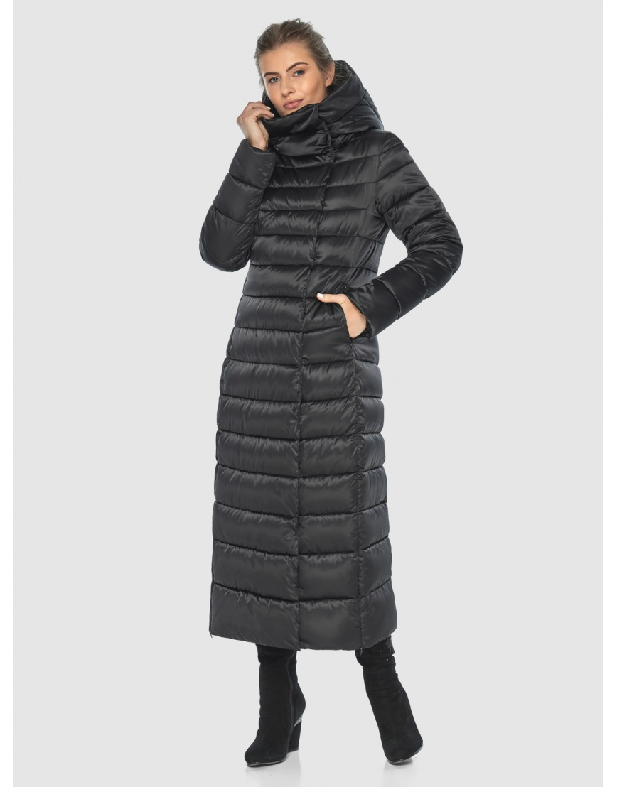 Чёрная куртка Ajento практичная зимняя для подростков 23320 фото 5