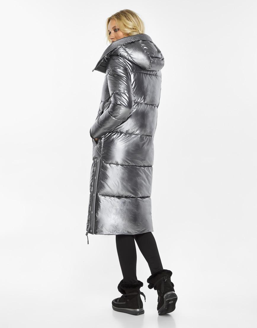 Женский воздуховик Braggart зимний трендовый цвет серебро модель 42650 фото 5