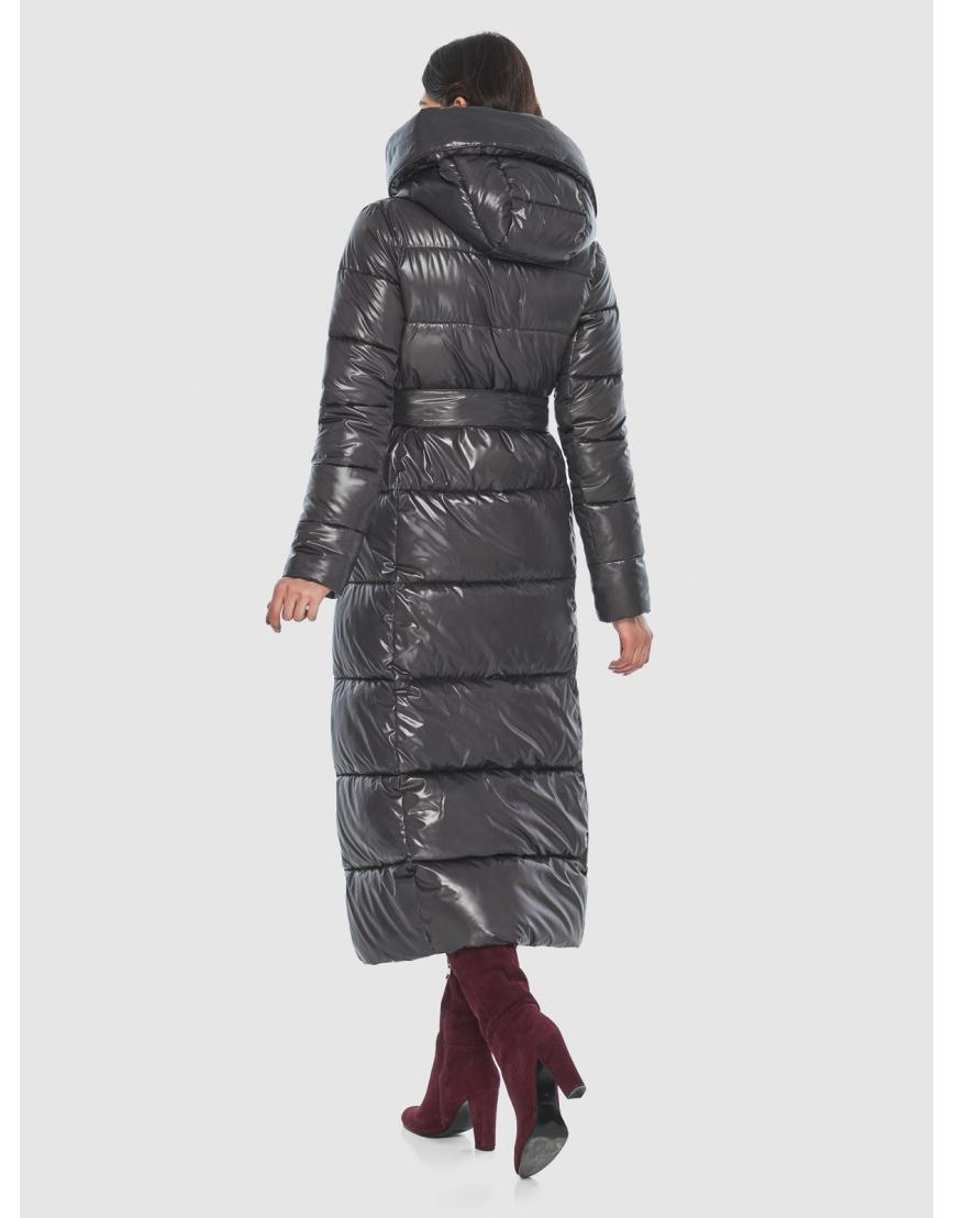 Серая трендовая женская куртка подростковая Vivacana зимняя 8706/21 фото 4