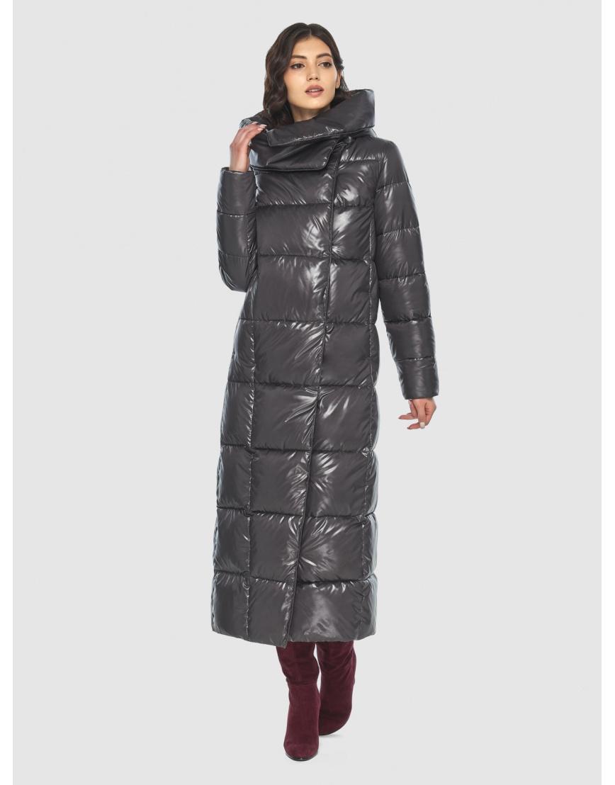 Серая трендовая женская куртка подростковая Vivacana зимняя 8706/21 фото 2