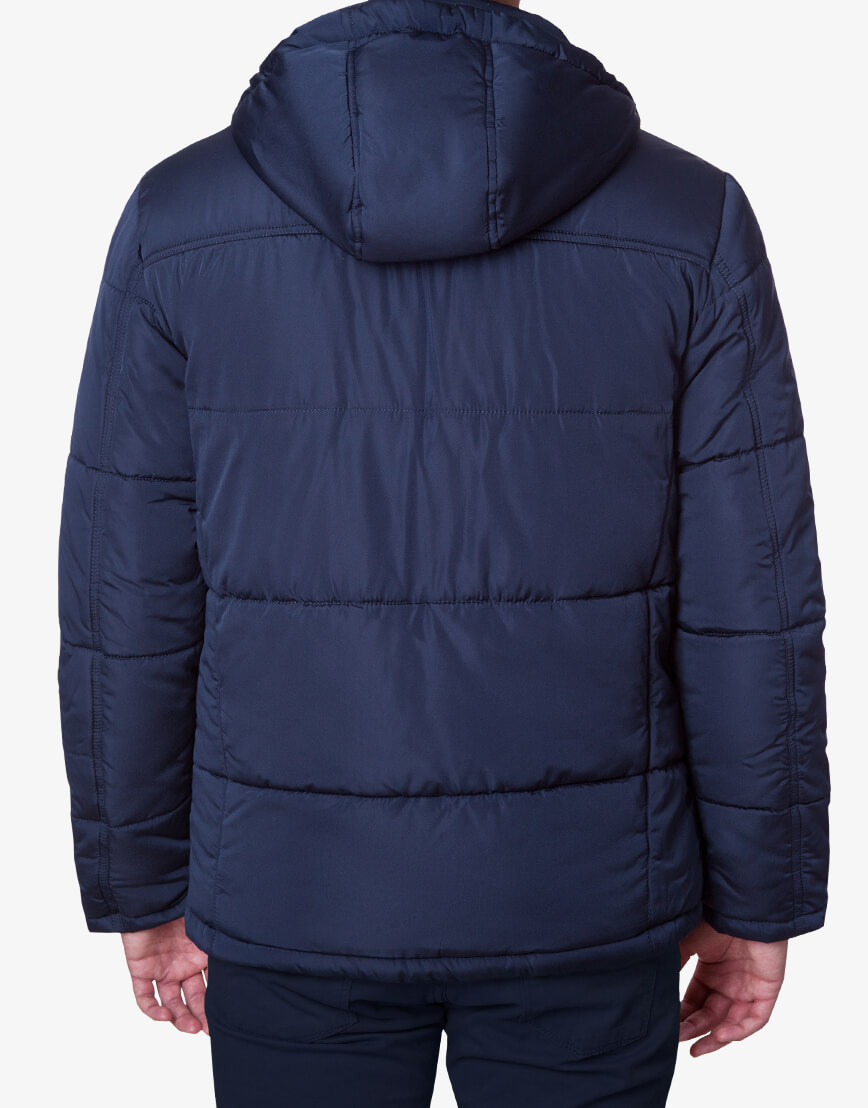 Мужская модная темно-синяя куртка модель 1902-1 фото 3