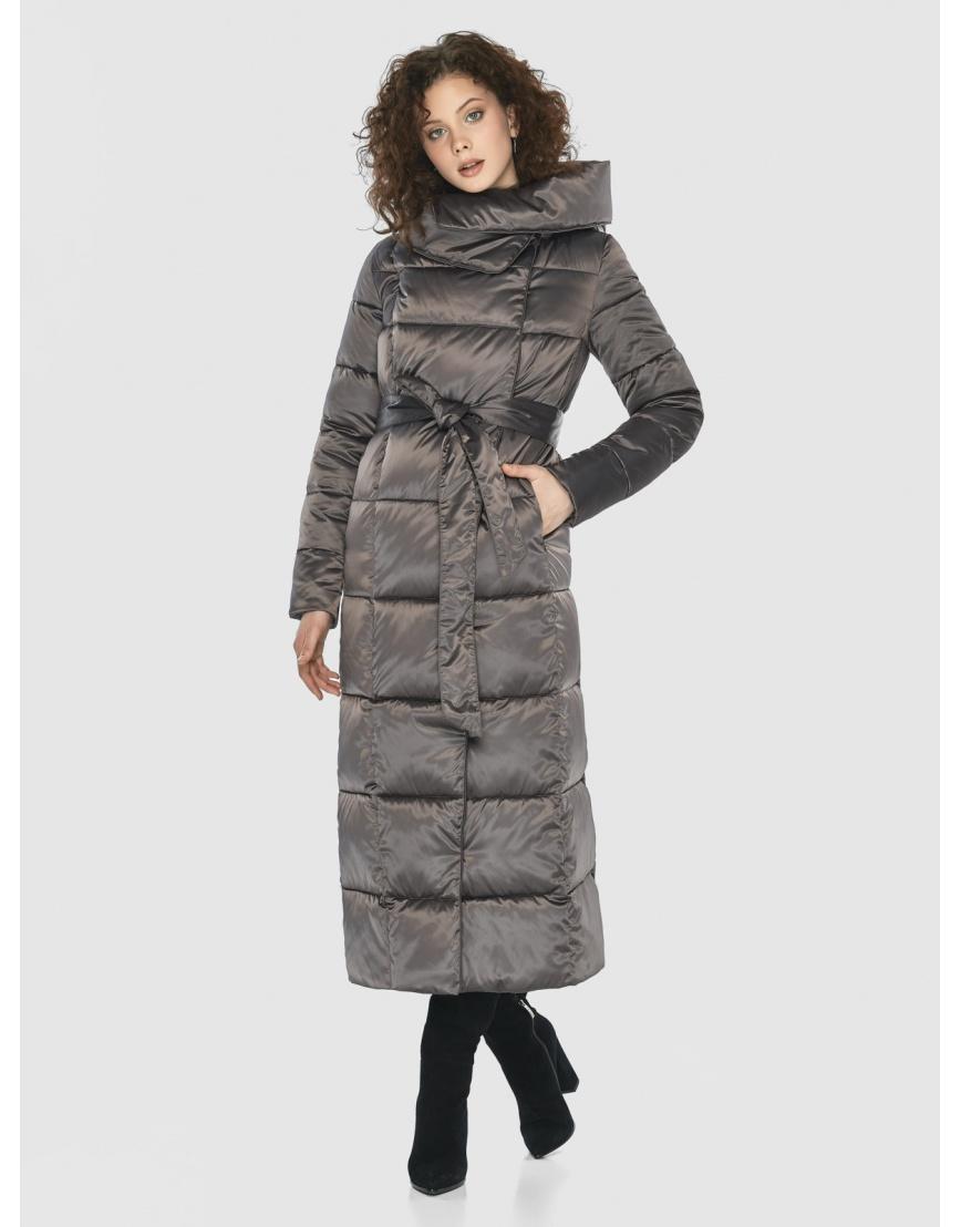 Капучиновая современная куртка Moc женская M6321 фото 3