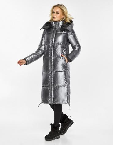 Женский воздуховик Braggart зимний трендовый цвет серебро модель 42650