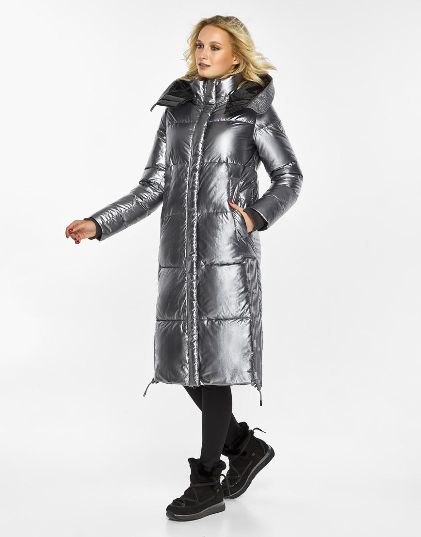 Женский воздуховик Braggart зимний трендовый цвет серебро модель 42650 фото 1