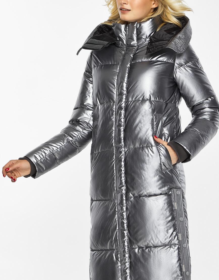 Женский воздуховик Braggart зимний трендовый цвет серебро модель 42650 фото 7