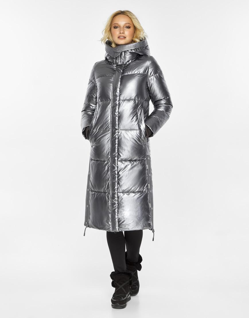 Женский воздуховик Braggart зимний трендовый цвет серебро модель 42650 фото 4