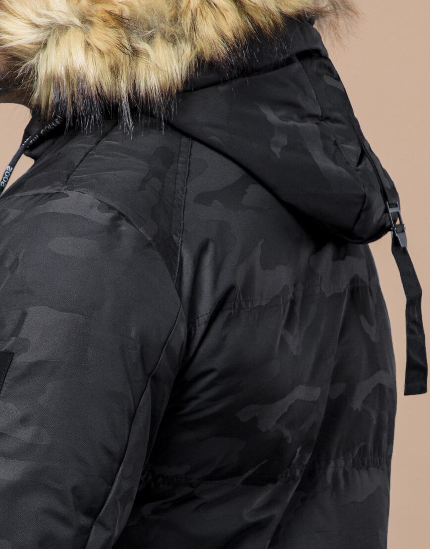 Зимняя куртка дизайнерская фирменная черная модель 25350 фото 7