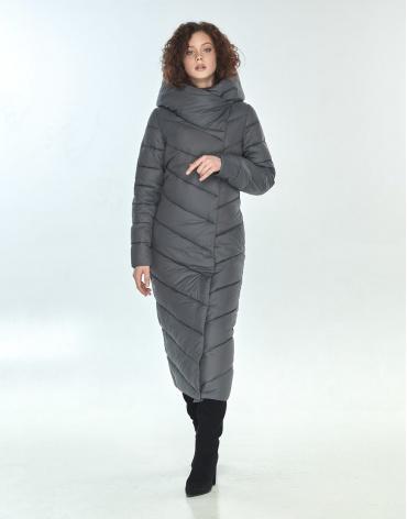 Длинная куртка Moc серая брендовая женская M6471 фото 1