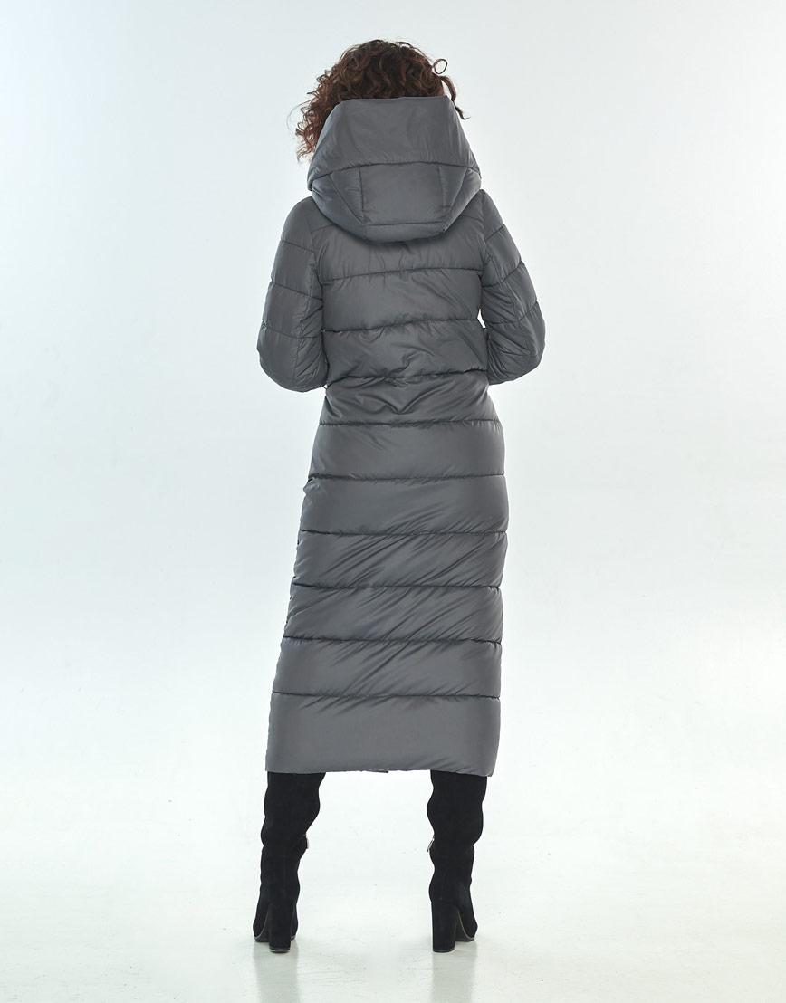 Длинная куртка Moc серая брендовая женская M6471 фото 3