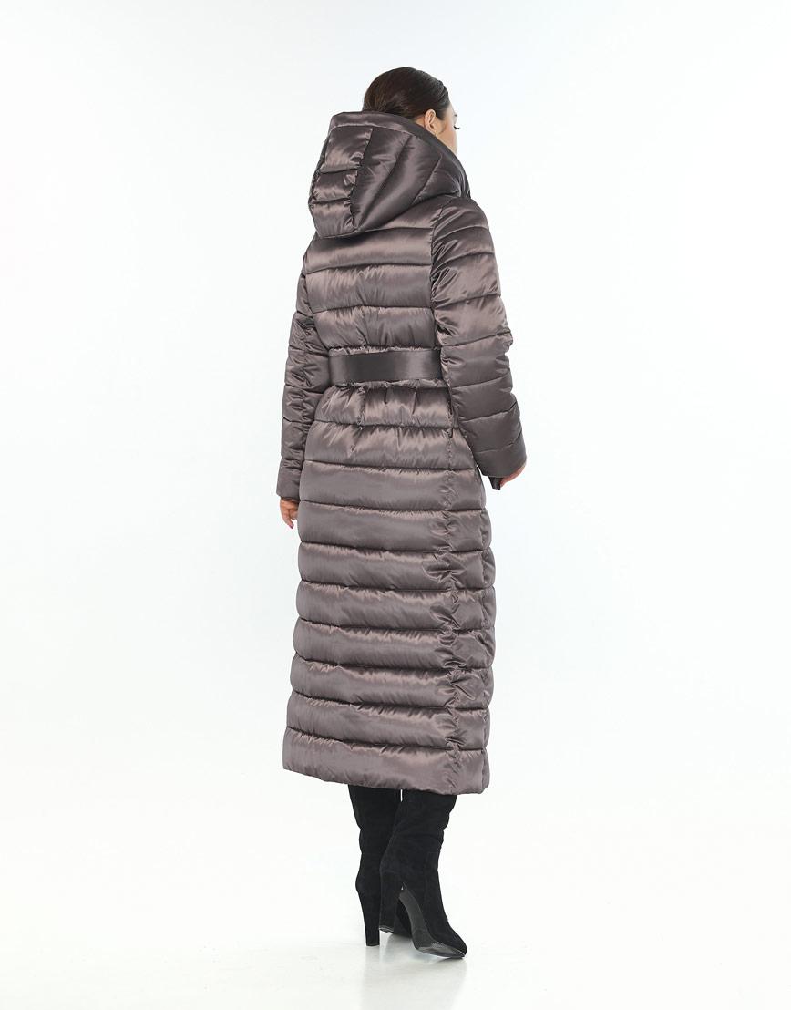 Фирменная куртка большого размера женская Wild Club капучиновая 524-65 фото 3