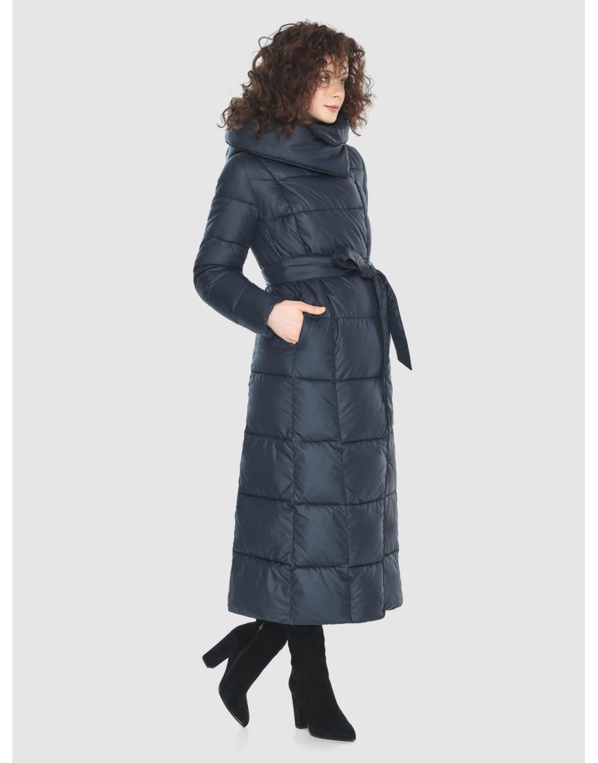 Куртка длинная женская Moc синяя M6321 фото 3