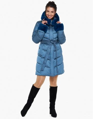 Аквамариновый качественный воздуховик женский зимний модель 31068