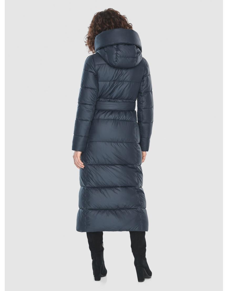 Куртка длинная женская Moc синяя M6321 фото 4