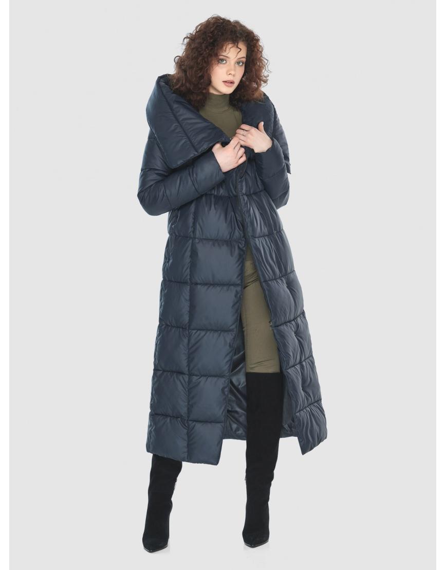 Куртка длинная женская Moc синяя M6321 фото 6