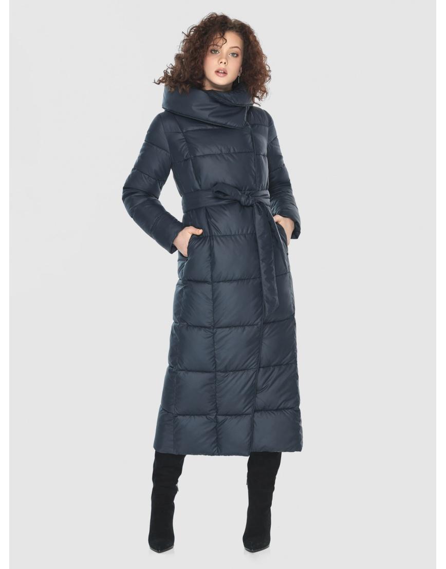 Куртка длинная женская Moc синяя M6321 фото 5