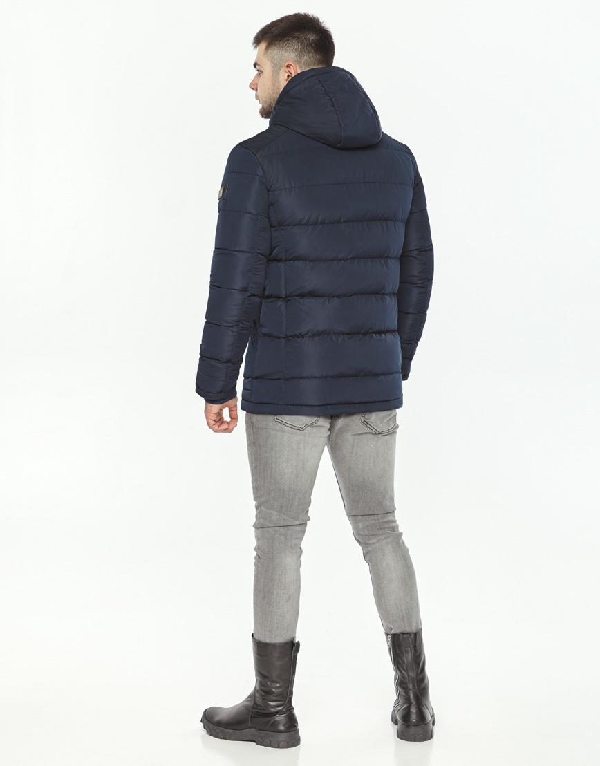 Темно-синяя куртка зимняя мужская модель 44516 оптом фото 4