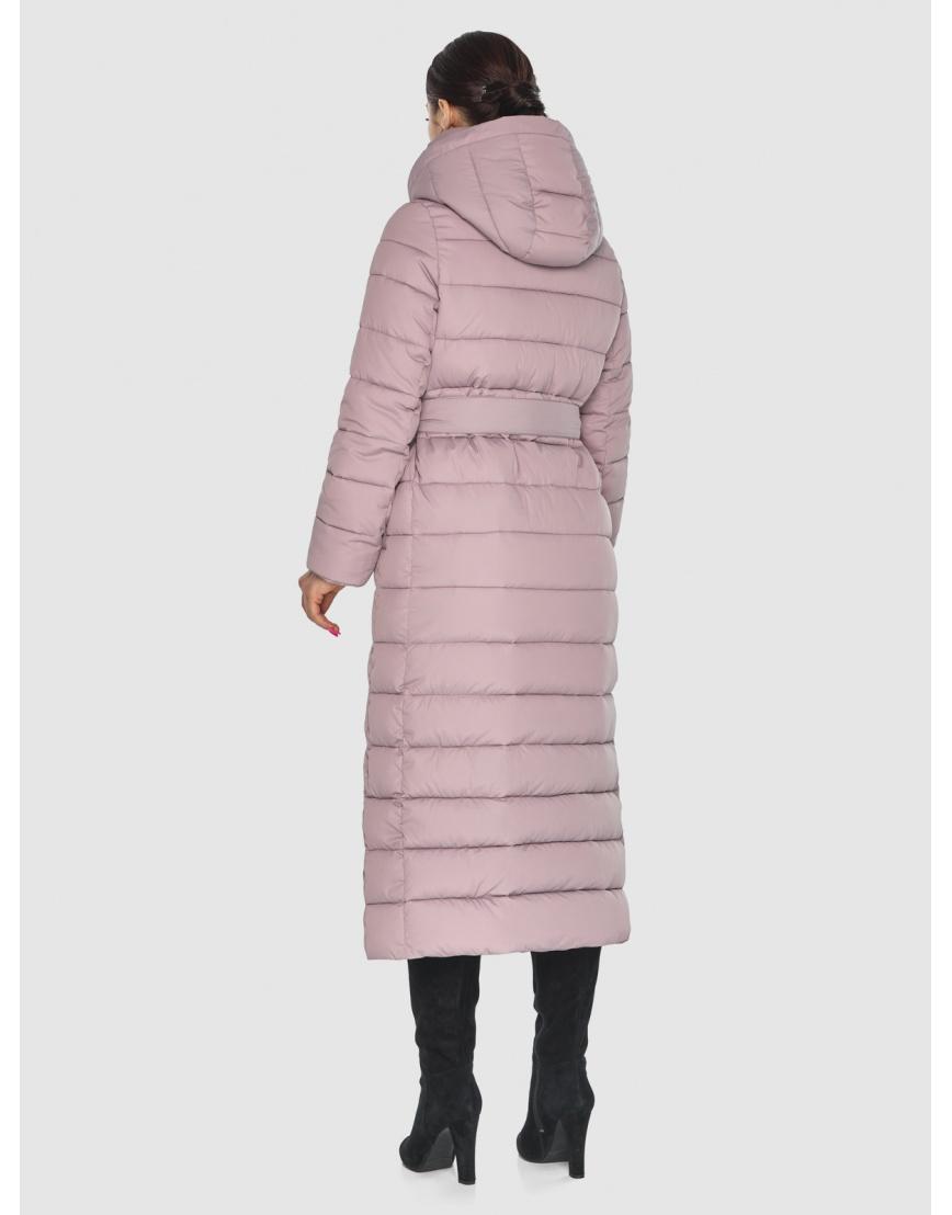Модная подростковая куртка Wild Club для зимы цвет пудра 524-65 фото 4