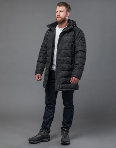 Дизайнерская черная куртка удобная модель 70118 оптом