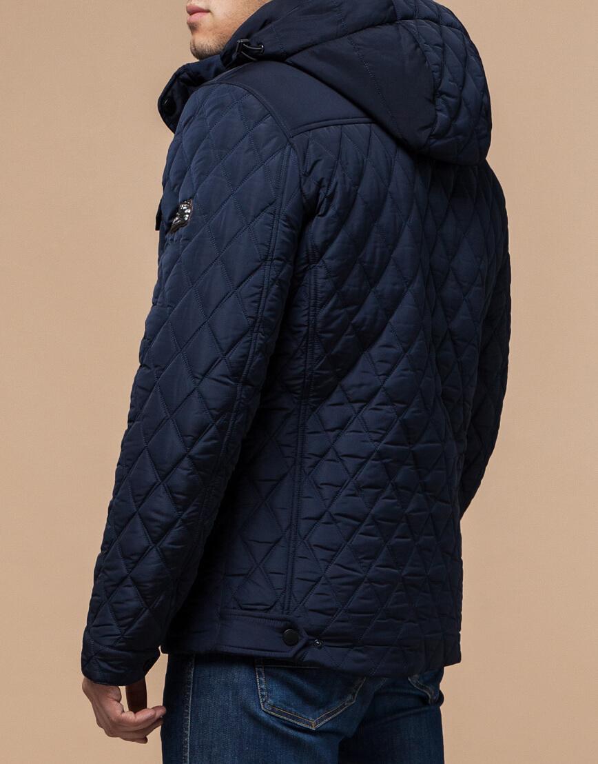 Качественная куртка синего цвета модель 1698 фото 3
