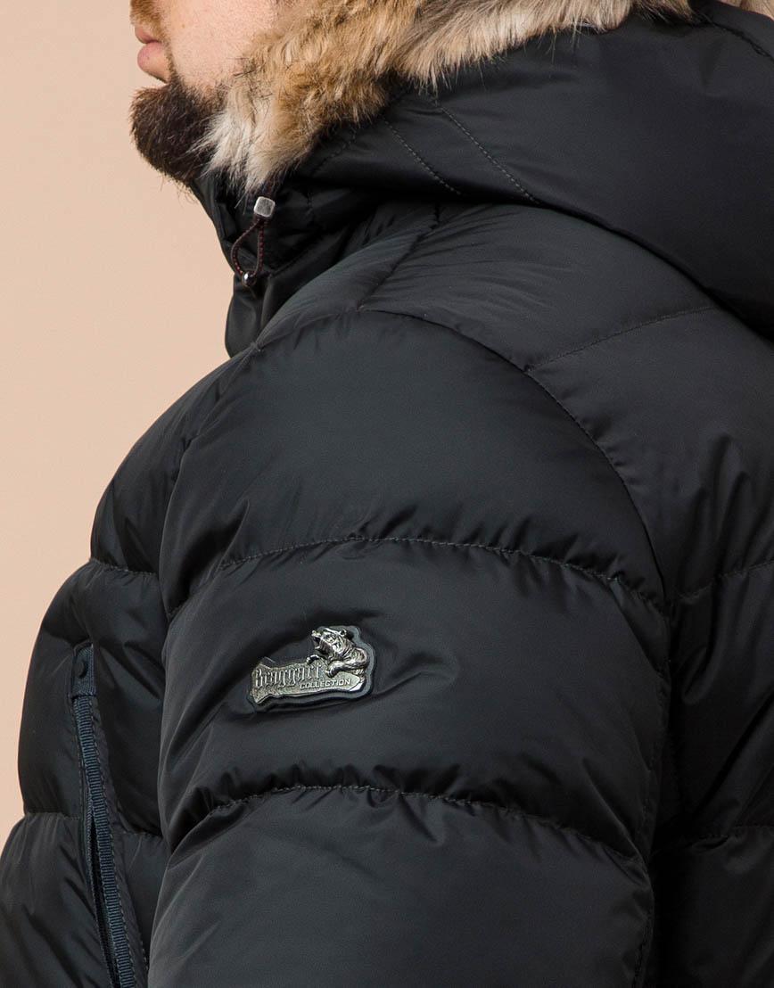 Удобная графитовая куртка большого размера с капюшоном модель 37762 фото 6