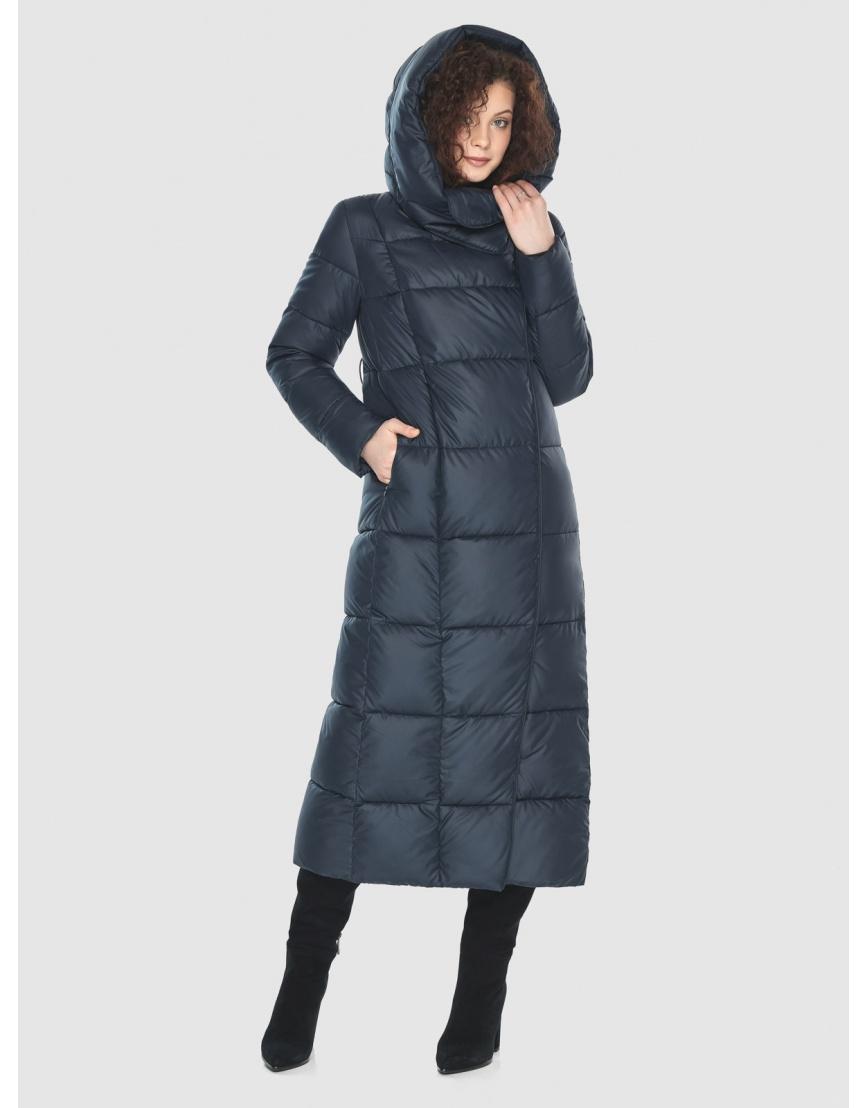 Куртка длинная женская Moc синяя M6321 фото 1