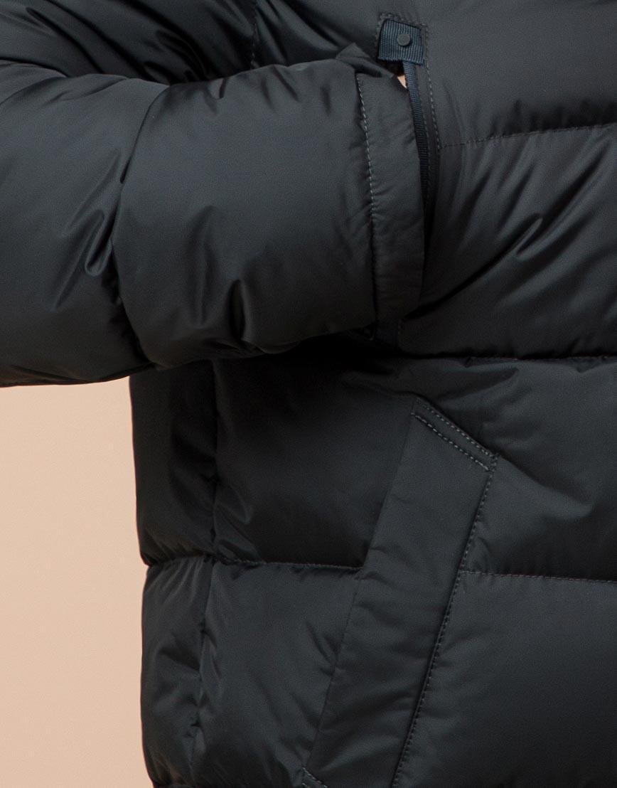 Удобная графитовая куртка большого размера с капюшоном модель 37762 фото 5