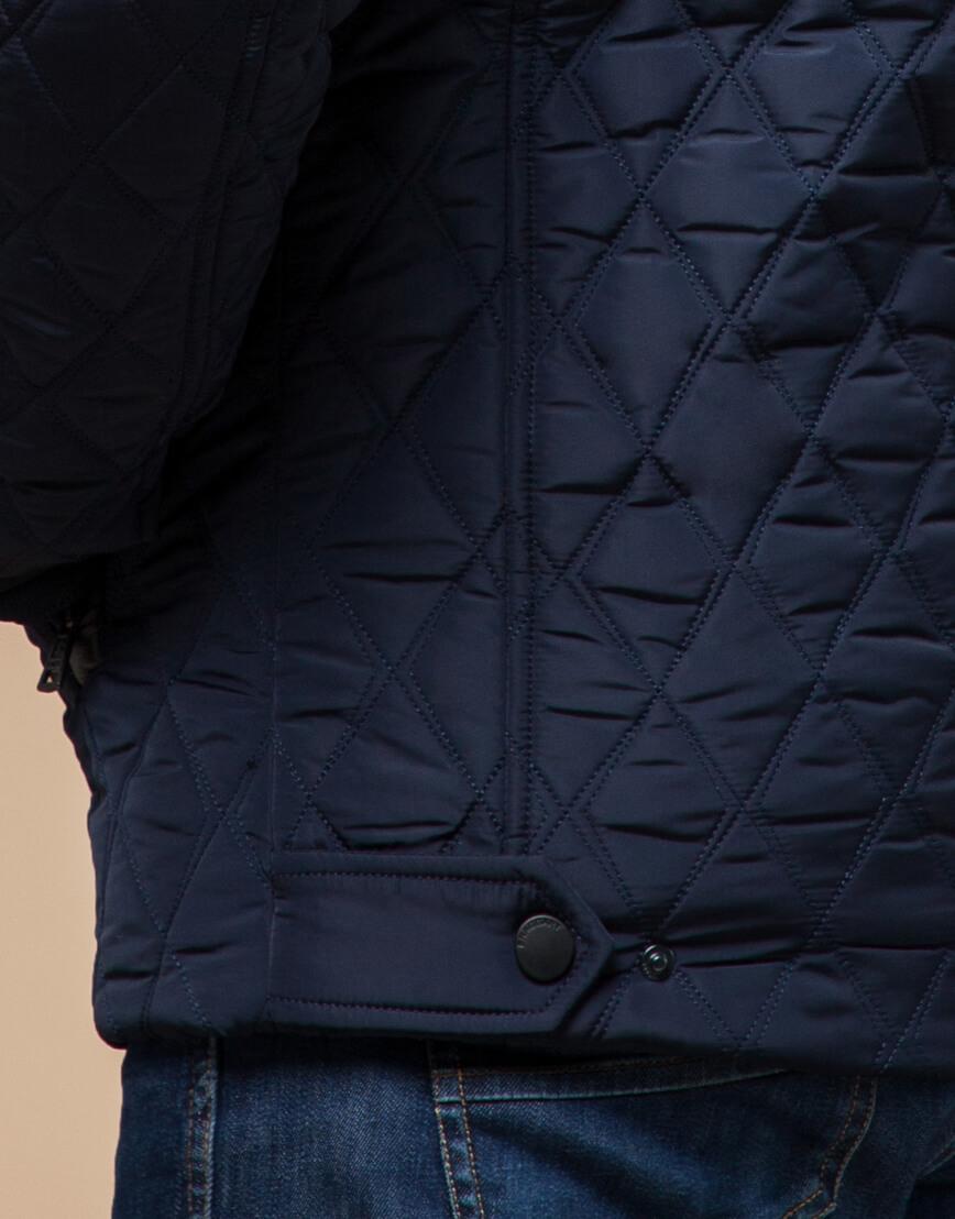 Качественная куртка синего цвета модель 1698 фото 6