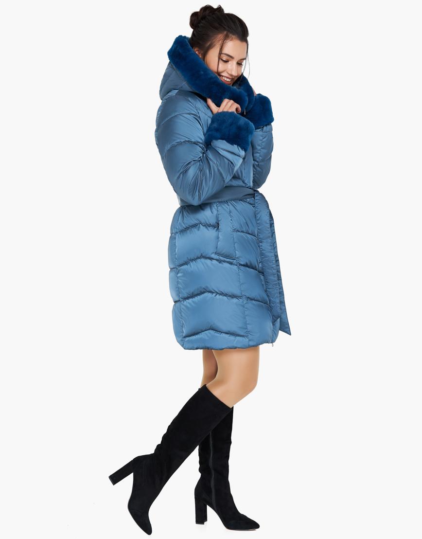 Аквамариновый качественный воздуховик женский зимний Braggart модель 31068