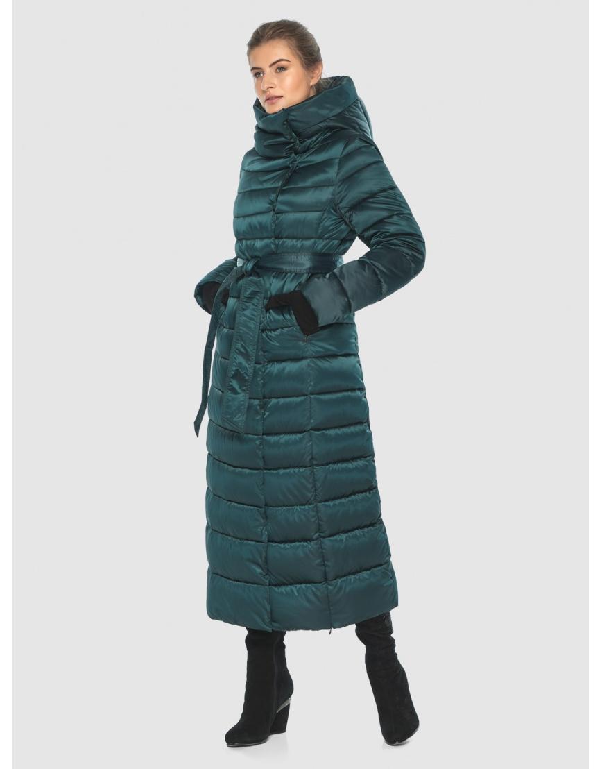 Куртка удобная зелёная Ajento зимняя для девушки 23320 фото 1