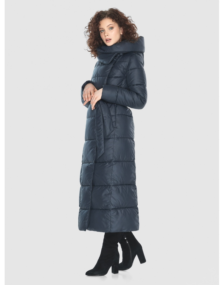 Куртка длинная женская Moc синяя M6321 фото 2