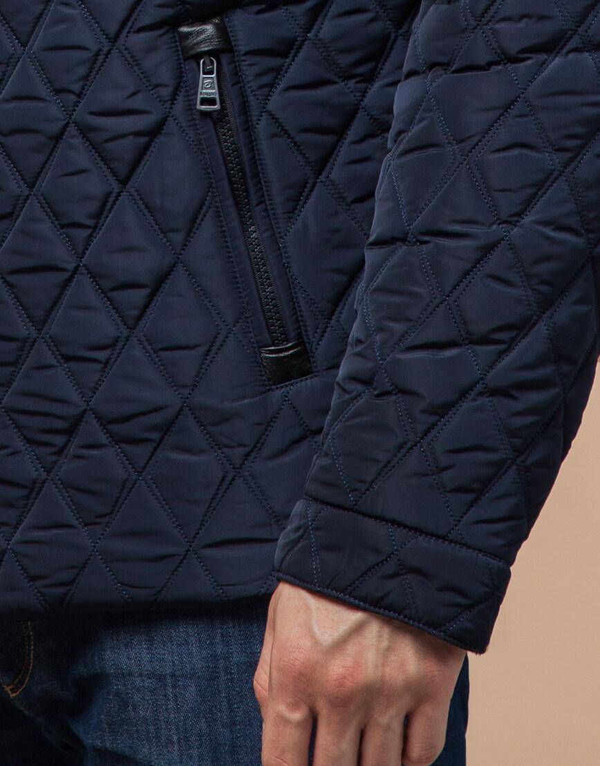 Качественная куртка синего цвета модель 1698 фото 5