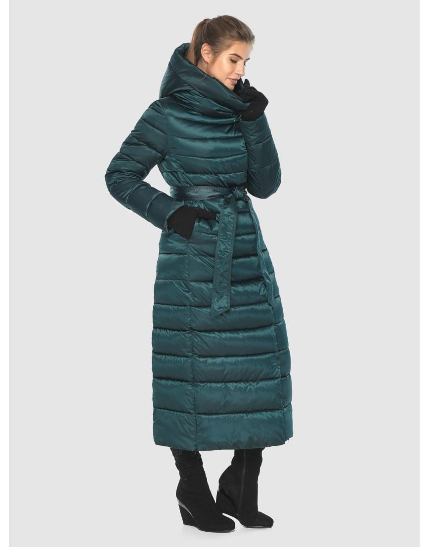 Куртка удобная зелёная Ajento зимняя для девушки 23320 фото 3