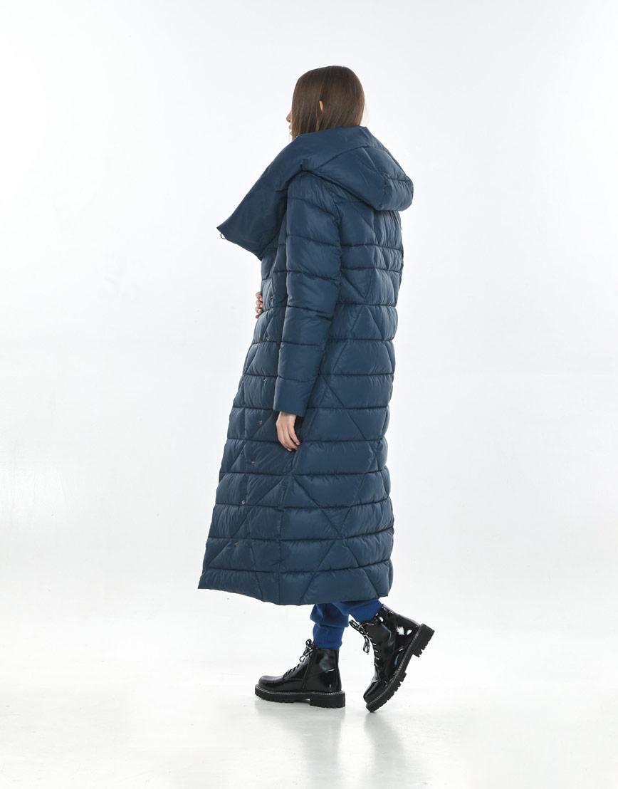 Синяя подростковая зимняя куртка Vivacana для девушки 9470/21 фото 3