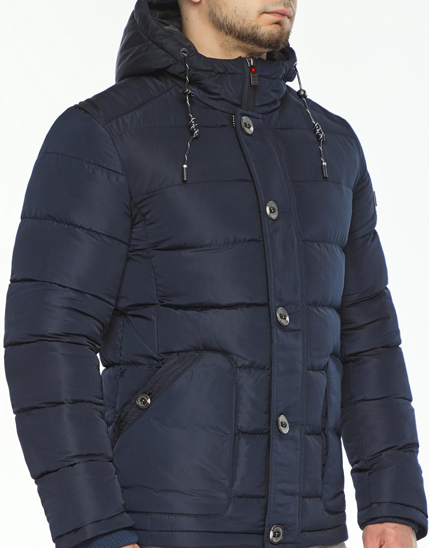 Темно-синяя куртка зимняя мужская модель 44516 оптом фото 5