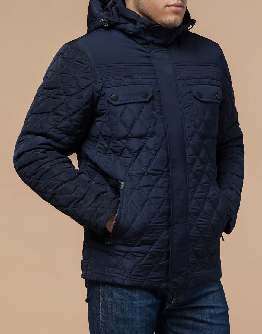 Качественная куртка синего цвета модель 1698 фото 2
