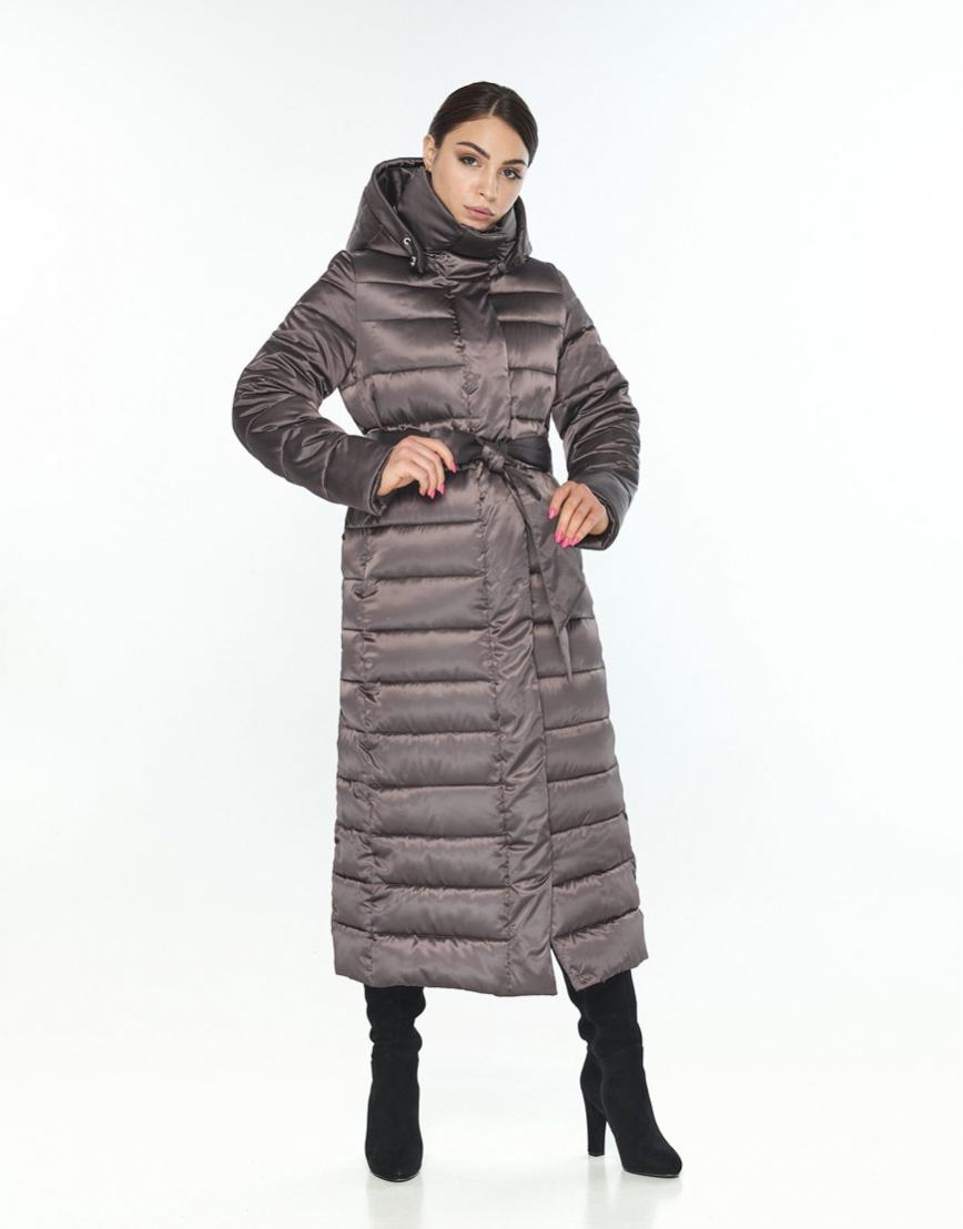 Фирменная куртка большого размера женская Wild Club капучиновая 524-65 фото 1