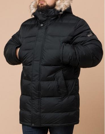 Удобная графитовая куртка большого размера с капюшоном модель 37762 фото 1
