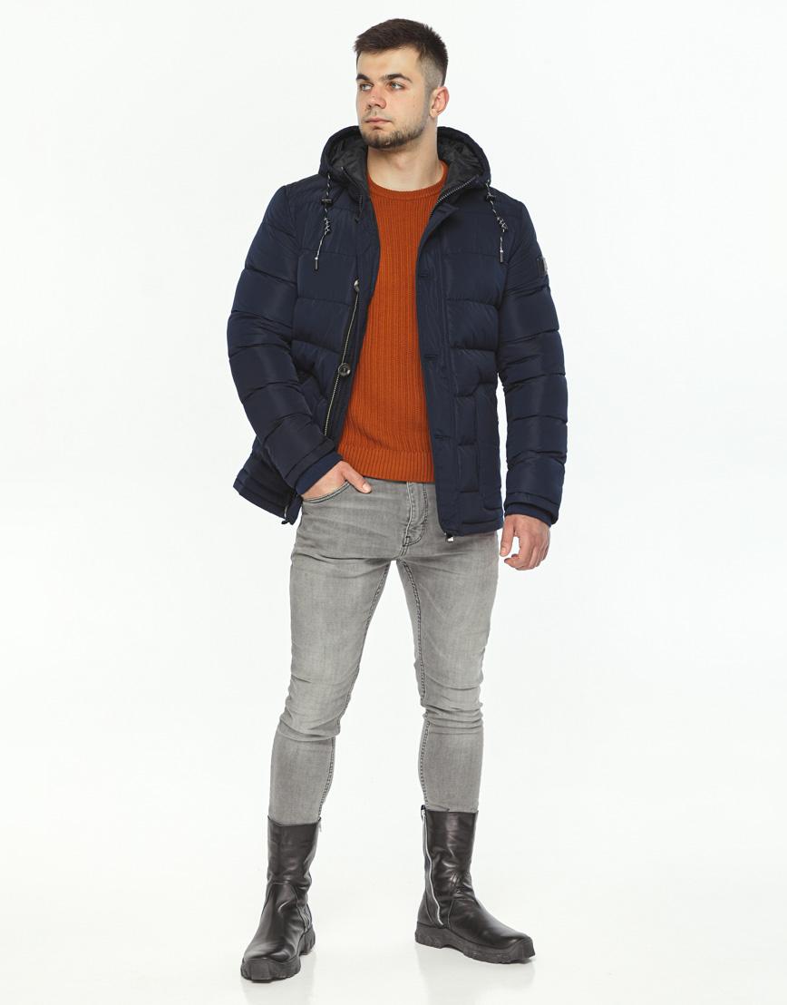 Темно-синяя куртка зимняя мужская модель 44516 оптом фото 2