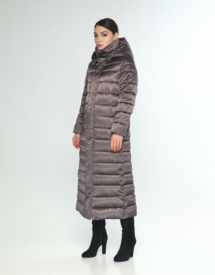 Фирменная куртка большого размера женская Wild Club капучиновая 524-65 фото 2