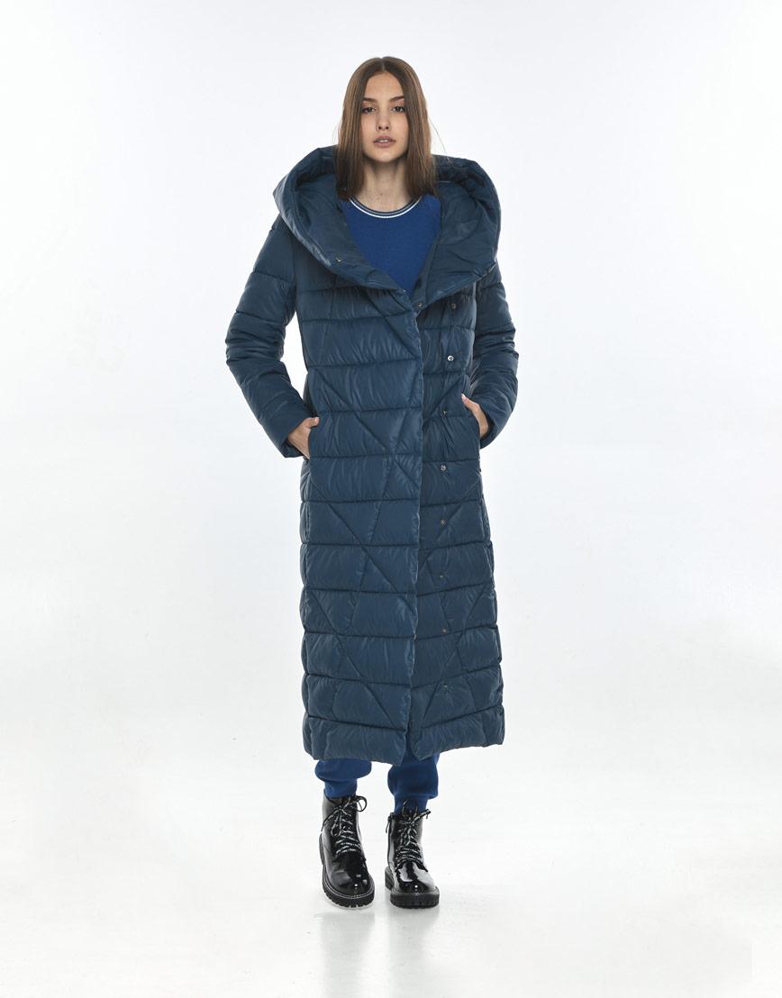Синяя подростковая зимняя куртка Vivacana для девушки 9470/21 фото 2