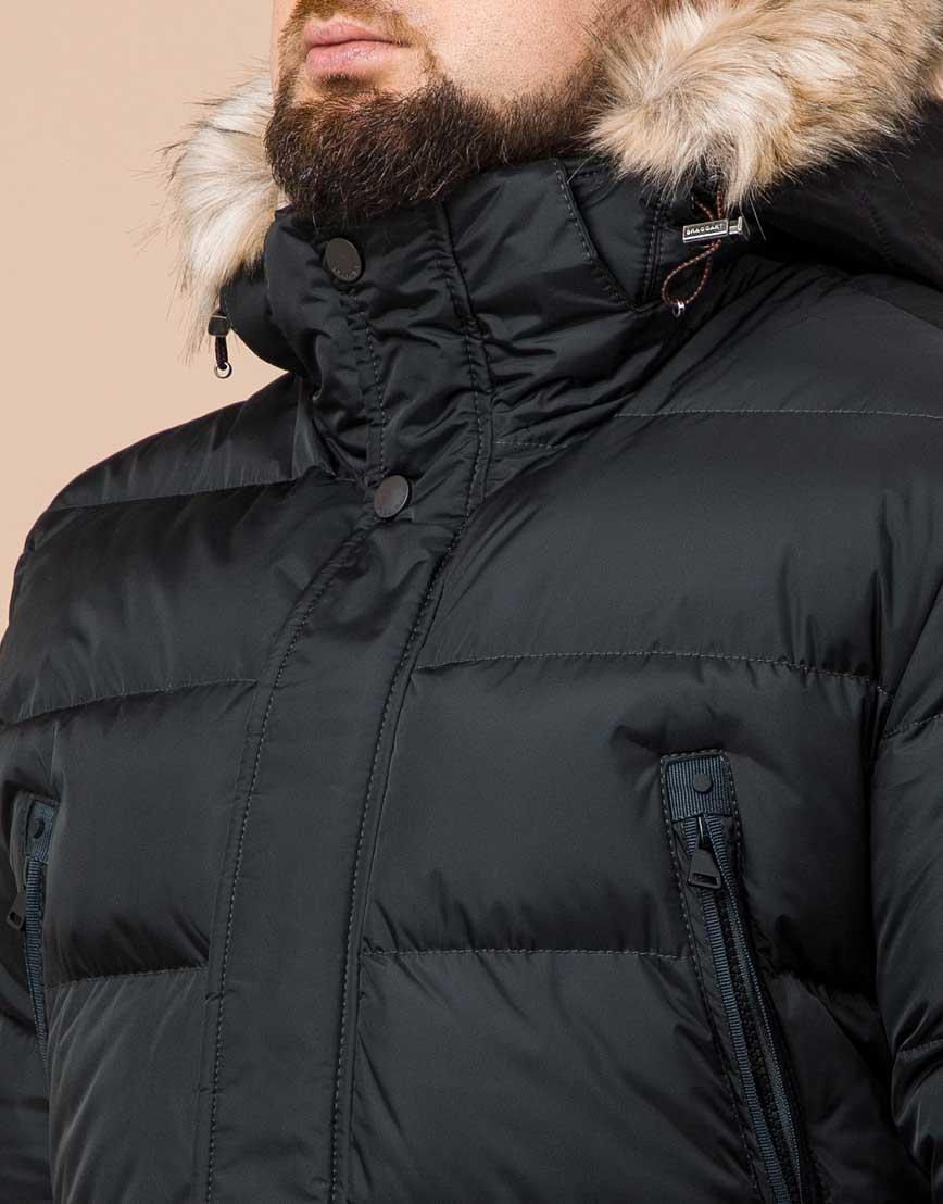 Удобная графитовая куртка большого размера с капюшоном модель 37762 фото 4