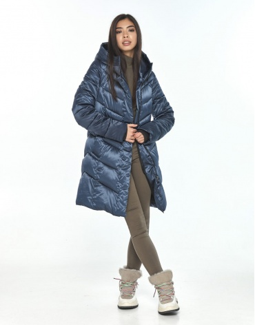 Фирменная куртка подростковая Moc синяя зимняя M6540 фото 1