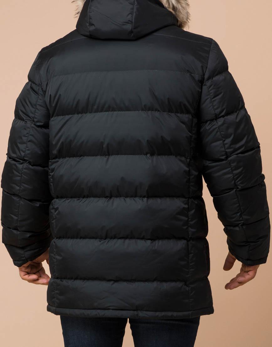 Удобная графитовая куртка большого размера с капюшоном модель 37762 фото 3