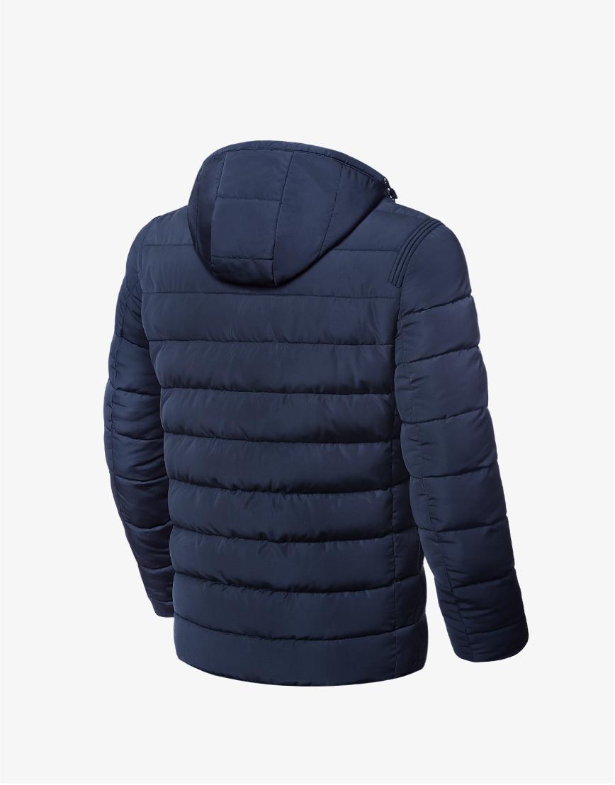 Зимняя мужская куртка темно-синяя модель 8815