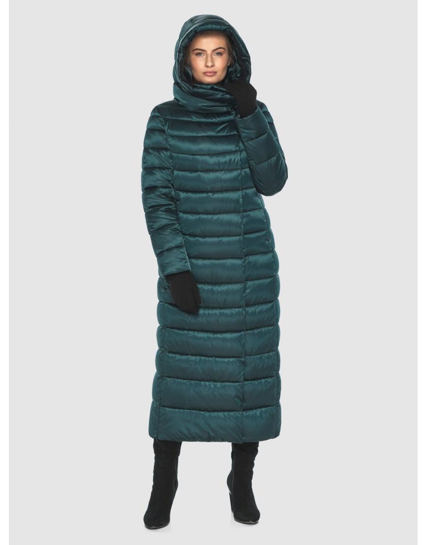 Куртка удобная зелёная Ajento зимняя для девушки 23320 фото 5