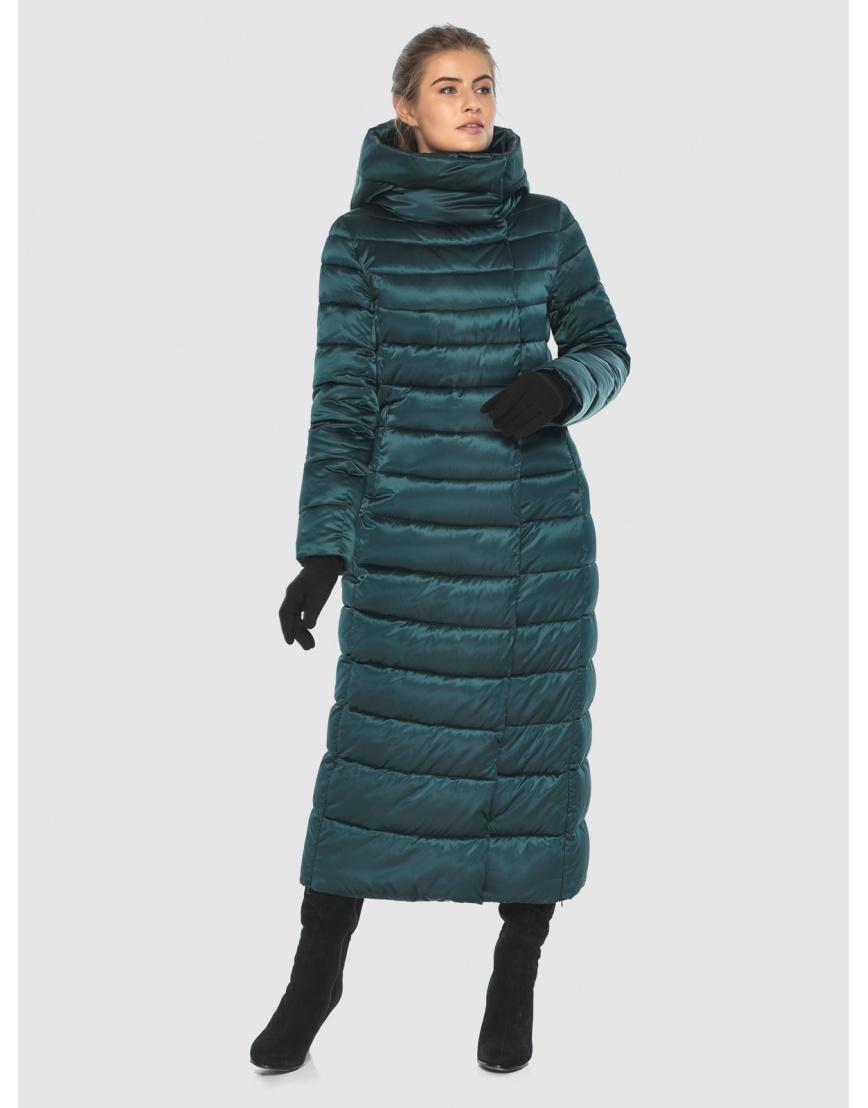 Куртка удобная зелёная Ajento зимняя для девушки 23320 фото 2