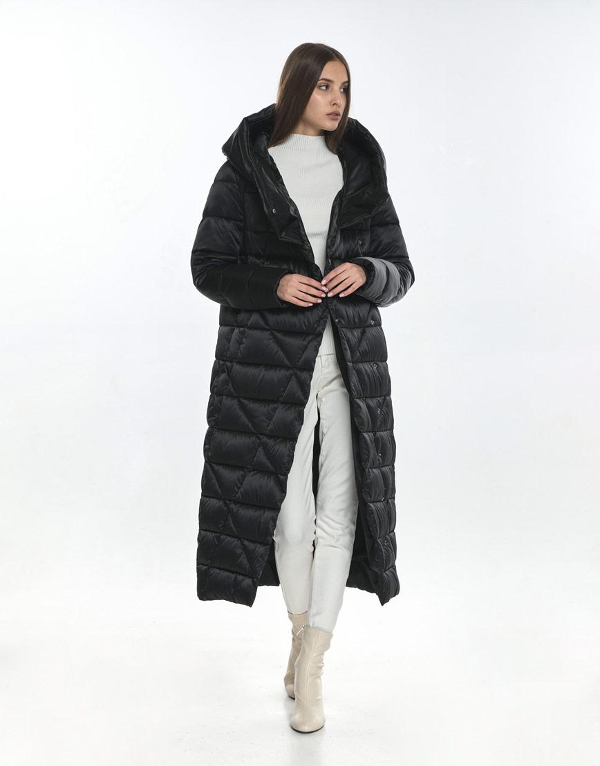 Куртка комфортная подростковая Vivacana чёрная на зиму 9470/21 фото 1