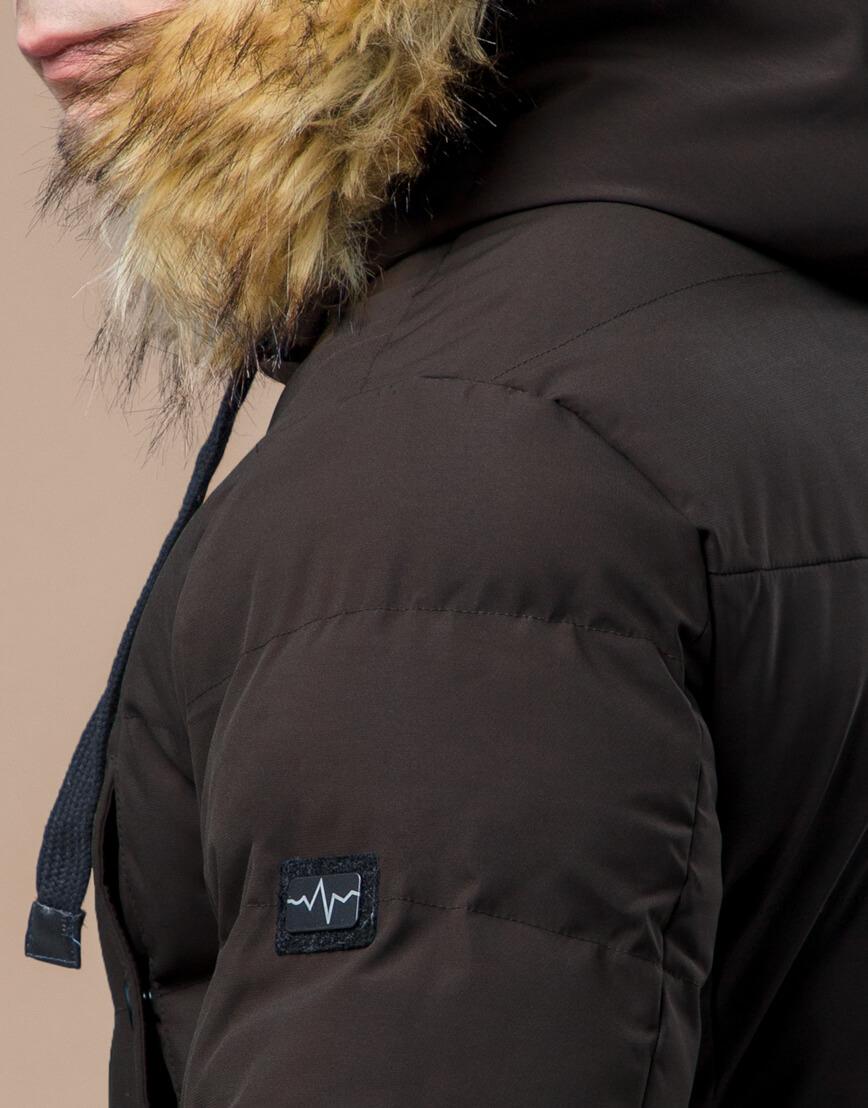 Куртка высококачественная зимняя цвета кофе модель 25370 фото 7